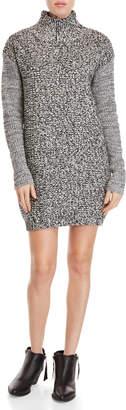 John & Jenn John + Jenn Bryce Mixed-Stitch Turtleneck Sweater Dress