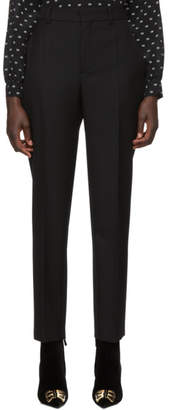 Balenciaga Black Wool Carrot Trousers