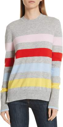 LA LIGNE AAA Candy Stripe Cashmere Sweater