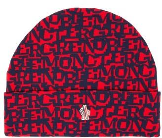 Moncler Logo Jacquard Beanie Hat - Mens - Multi