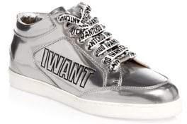 Jimmy Choo Edina Metallic Sneakers