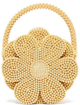 Shrimps - Buttercup Faux Pearl Embellished Bag - Womens - Yellow