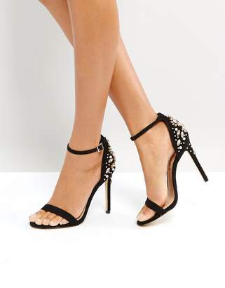 Office Hottie Embellished Heeled Sandals