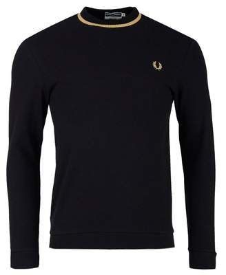 Fred Perry Re-issues Long Sleeved Crew Neck Pique T-shirt