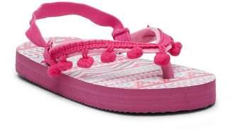 Laura Ashley Pompom Flip Flop Sandal (Toddler & Little Kid)