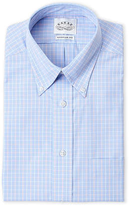 Eagle Ultra Blue Plaid Regular Fit Dress Shirt