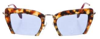 Miu Miu Rasoir Half-Rim Sunglasses