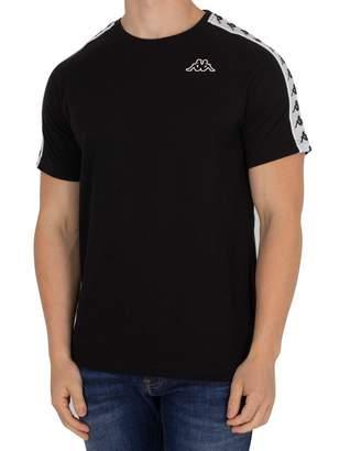 Kappa men's clothing short sleeve t-shirt 303UV10 945 BANDA COEN SLIM S Nero Bianco