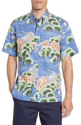 Reyn Spooner Kuromatsu Forest Classic Fit Short Sleeve Button-Down Sport Shirt