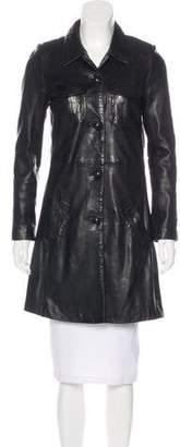 Zadig & Voltaire Knee-Length Leather Coat