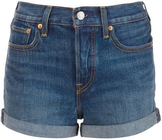 Levi's high waisted denim shorts $59.50 thestylecure.com