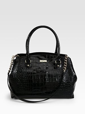 Kate Spade New York Sloan Patent Crocodile Embossed Leather Satchel