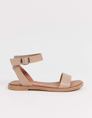 New Look studded detail sandal in oatmeal