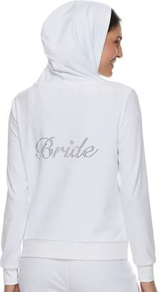"Juicy Couture Women's Bride"" Velour Hooded Jacket"