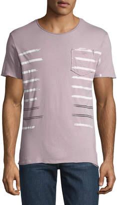 Antony Morato Men's Striped Jersey Pocket T-Shirt
