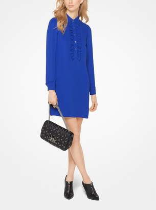 MICHAEL Michael Kors Ruffled Silk-Georgette Shirtdress
