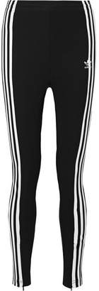 adidas Striped Jersey Track Pants - Black