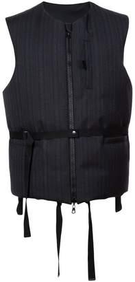 Lanvin pinstripe padded vest jacket