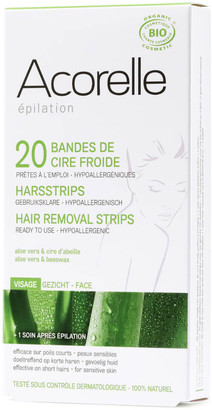 Acorelle Ready to Use Aloe Vera and Beeswax Face Strips - 20 Strips