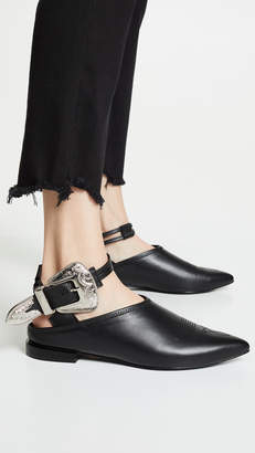 Toga Pulla Buckle Ankle Strap Mules