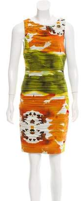 Alice + Olivia Ruched Silk Dress