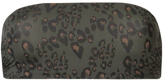 The Upside leopard print strapless bikini top