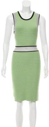 Yigal Azrouel Cut25 by Patterned Knit Dress