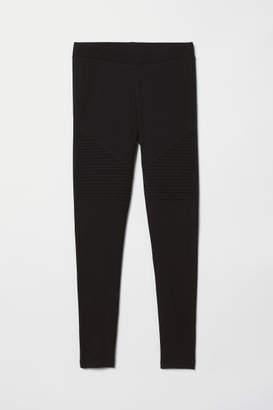 H&M Jersey Biker Leggings - Black