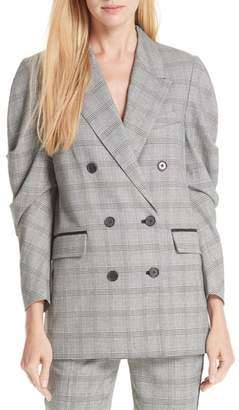 Joie Tomika Double Breasted Pegged Sleeve Jacket
