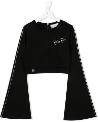 Philipp Plein Junior TEEN embellished flared sleeve top