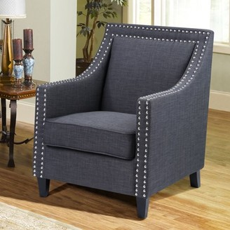 Best Master Furniture's Xenia Tufted Fabric Accent Chair, Available in Two Colors