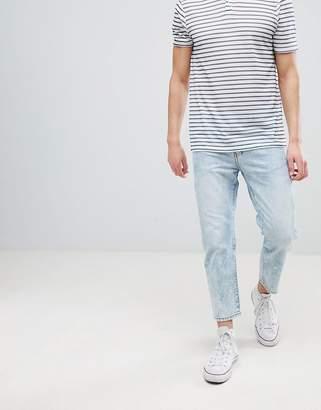 Dr. Denim Otis Light Blue Wash Blue Cropped Jeans