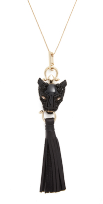 Alexis Bittar Panther Tassel Pendant Necklace $345 thestylecure.com