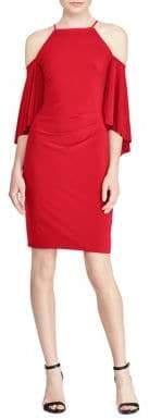Lauren Ralph Lauren Bell-Sleeve Cold-Shoulder Jersey Dress