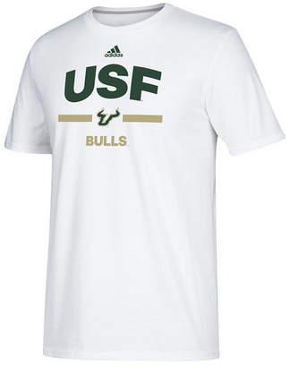 adidas Men South Florida Bulls Sideline Speed Arch T-Shirt
