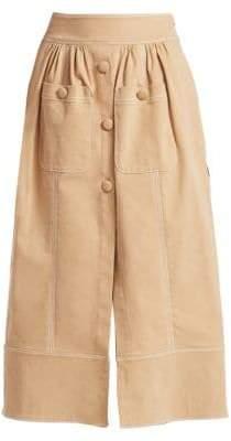Rosie Assoulin Women's Button-Me-Up Midi Skirt - Khaki - Size 0