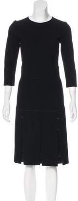 Les Copains Long Sleeve Midi Dress