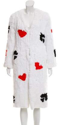 Blood & Honey Lets Play A Game Fur Coat w/ Tags