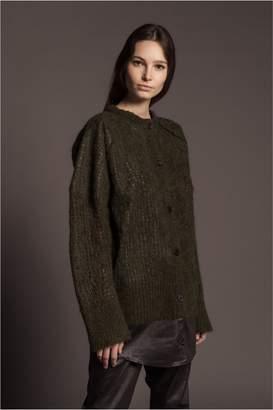 Sonia Rykiel Mixed Fabric Longline Cardigan