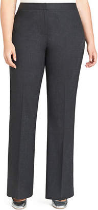 Lafayette 148 New York Menswear Straight-Leg Stretch-Wool Pants, Plus Size