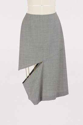 Maison Margiela Wool asymetrical skirt