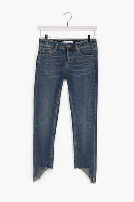 Genuine People Cotton Stretch Cut Off Jeans