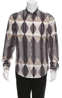 Just Cavalli Geometric Print Button-Up Shirt