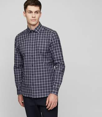 Reiss Foxtrot Checked Cotton Shirt
