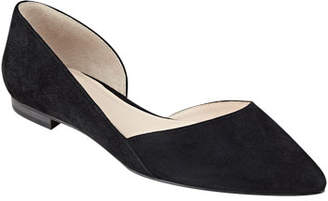 Marc Fisher Sunny Pointed Suede Ballet Flats
