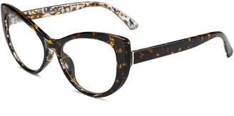 Cat Eye FEISEDY Printed Glasses Frame Women Non Prescription Eyeglasses Frame B2441