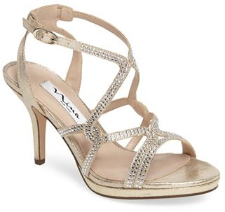Women's Nina Varsha Crystal Embellished Evening Sandal $98.95 thestylecure.com