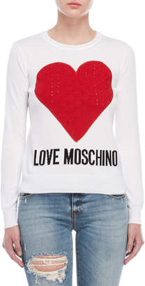 Love Moschino Heart Patch Sweater