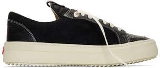 Rhude Black Suede V1 Lo Sneakers