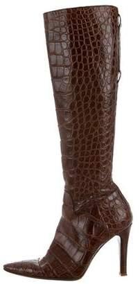 Ralph Lauren Crocodile Boots